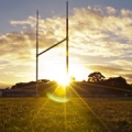 Rugby Posts at sunrise